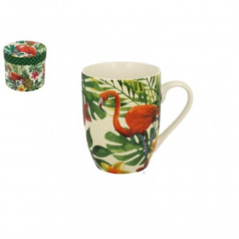 Porcelán bögre Flamingó