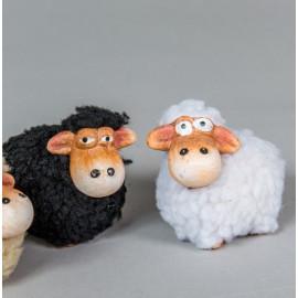 Kerámia bárány bundával