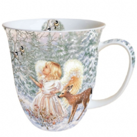Porcelán bögre angyal