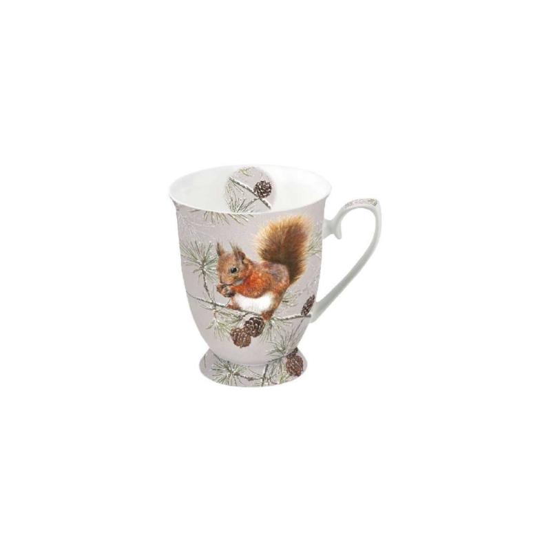 Porcelán kávés-szett karácsonyi motívummal