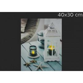 Lámpás LED falikép