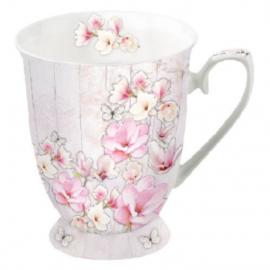 Magnólia porcelán csésze