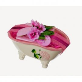 Kerámia szappantartó rózsás