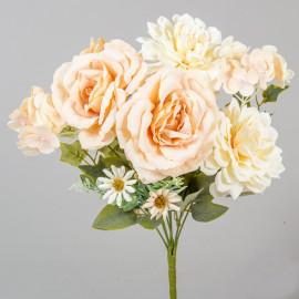 Rózsa, dália művirág csokor