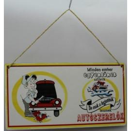 Autószerelők fatáblája