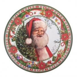 Karácsonyi tál mikulással