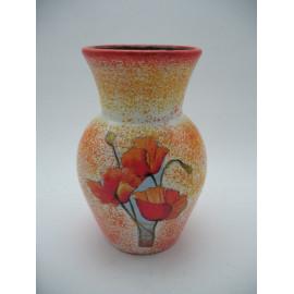 Kerámia váza pipacsos