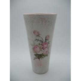 Kerámia váza rózsás
