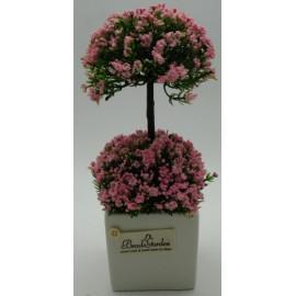 Művirág kaspóban, virágzó fa