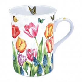 Porcelánbögre Tulipánok