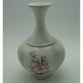 Kerámia váza rózsa mintával