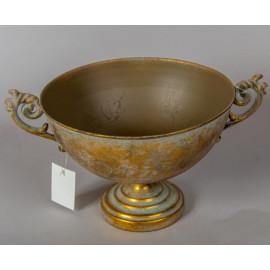 Antik arany színű fém kehely